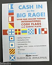 CASH IN ON THE BIG RAGE! Brochure Flyer International Code Flags Bumper Plates