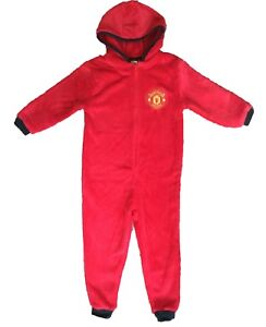 Manchester United Football Club All in One Sleepsuit Boys Dressing Gown Pyjamas