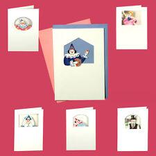 36 Circus & Clowns Die-cut Blank Greeting Cards EC0008