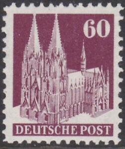 1948 BRIT. & AMERICAN ZONES COLOGNE CATHEDRAL 60pf TYPE III MNH SGA128c Cat £150