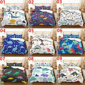 Dinosaur Single Double King Super King Size Bed Duvet Quilt Cover Set Pillowcase
