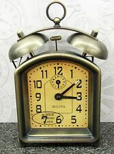 "BULOVA - MECHANICAL BELL ALARM CLOCK ""HOLGATE ""  B8128"