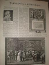 I primi anni di storia della Royal Academy da Joseph Grego 1886 stampe e l'articolo