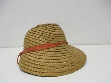 "Nice Vintage Straw Hat for 16-18"" Dolls"