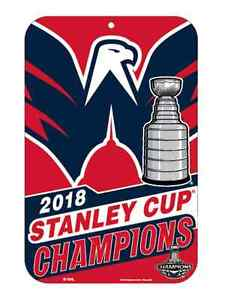 Washington Capitals 2018 NHL Stanley Cup Champions Team Colors Styrene Sign