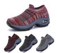 Women's Walking Shoes Sock Sneakers Mesh Air Cushion Lady Girls Dance Gym Shoes