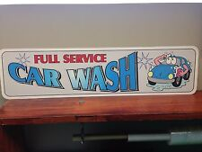 "Car Wash Metal Sign  6"" x 24"""