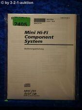 Sony Bedienungsanleitung MHC FR1 / HCDF 50 Component System (#2405)