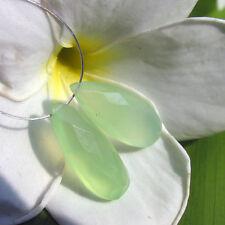 2 lime grüne chalcedon pear briolette tropfen facettiert ca. 20x8,4x5mm