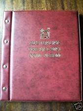 VST AUSTRALIAN PRE-DECIMAL 1910-1964 COIN ALBUM RED COLOUR Binder Mintages shown