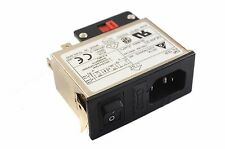 Delta 06AR3D Power Inlet Amp 6A 120V 250V AC IEC Universal EMI Noise Filter