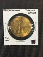 Saskatchewan Diamond Jubilee 1905-1965 Souvenir Token coin Combine Shipping