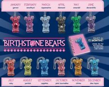 12 Birthstone Bear Key chains, 1 for each month, View Pictures for Descriptions