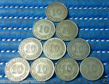 1927 Straits Settlements 10 Cents Silver Coin (Price Per Piece)
