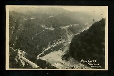 Real photo postcard RPPC New River Canyon Route 60 West Virginia WV