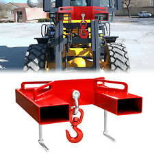 2 Trailer Hitch Receiver Forklift Towing Attachment Red For Dual Pallet Forks
