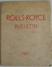 Rolls Royce Bulletin Jan. 1952 Main article on Speed + 1951 Farnborough Air Show