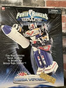 1998 Bandai Power Rangers In Space Deluxe Mega Voyager Megazord Complete US SHIP