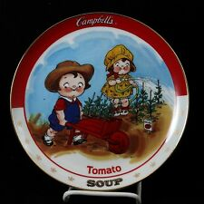 Campbell Kids Tomato Soup Plate Danbury Mint Campbell's Collectible
