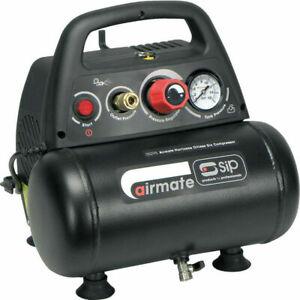 110v SIP 05295 Airmate 6L 1.5hp Compressor   Oil free design