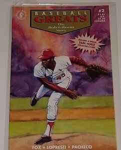 Baseball Greats #2 (Bob Gibson) (Dark Horse 1992) Very Fine