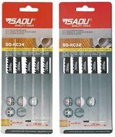 Makita BELGIUM 10 x Sadu Jigsaw Blades Wood /& Plastic T101B//D fit Bosch Dewalt