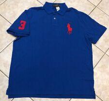 Polo Ralph Lauren Polo Mesh Polo Shirt Mens XXL Blue w/Big Pony Classic Fit NWT