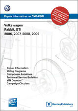 2006 - 2007 Volkswagen GTI & Rabbit Official Factory Service Manual on DVD VAG6