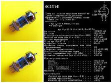 2 x 6s45p-e = WE437 = 6с45п-е / Date 1981 / NEW tubes PAIR / RARE MILITARY OTK!