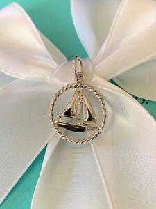 Tiffany & Co. Sailboat Twist Charm Sterling Silver