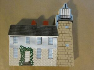 CATS MEOW Village - 2000 White Head Lighthouse Penobscot Bay, Maine Shelf Sitter
