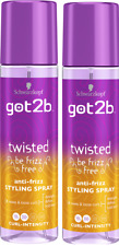 2x Schwarzkopf Got2b TWISTED Anti-Frizz Styling pump spray 200ml