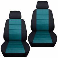 Fits 2007-2018 Suzuki Grand Vitara  front set car seat covers  black and teal