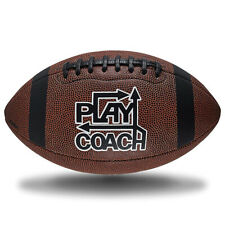 PlayCoach Junior High-Quality Unique Grip Youth Football for Kids 10 - 12, Brown