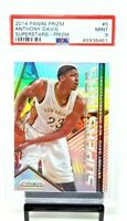 2014 Prizm SILVER REFRACTOR Lakers Star ANTHONY DAVIS Card PSA 9 MINT Low Pop 6