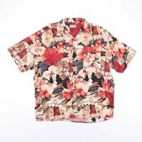 Vintage NATURAL ISSUE ALOHA HAWAIIAN Print Shirt Size Men's Large