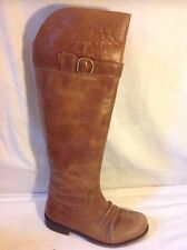 Bronx Brown Knee High Leather Boots Size 37