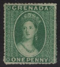 GRENADA SG4 1864 1d GREEN WMK SMALL STAR UNUSED