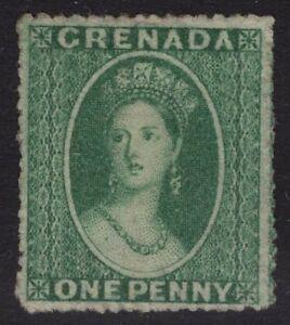 GRENADA SG4 1864 1d GREEN WMK SMALL STAR UNUSED