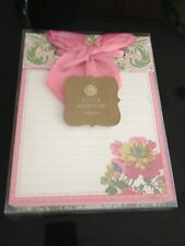 Anna Griffin Decorative Note Pad Olivia Floral Pink Green Desk Top Paper Bow