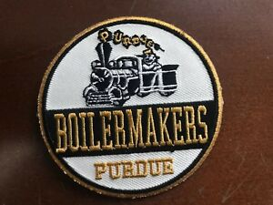 "PU Purdue Boilermakers Vintage Embroidered Iron On Patch (NOS) 3"" x 3"" APX"