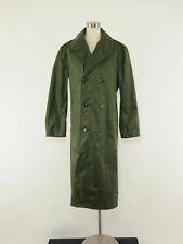 1960s Vintage Vietnam-era US Military Green Nylon Raincoat Trenchcoat 38 LONG