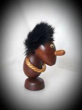 Vtg▪Hans BOLLING ?▪DANISH Modern Teak Wooden Troll Figurine ▪Rope Hands