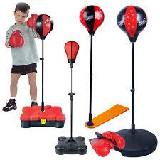 Niños Saco Punching Bola Boxeo Entrenamiento Guantes Kit de Pié Ejercicio Fun