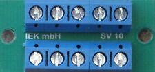 Stromverteiler SV 10, 10 Anschlüsse, Verteiler, Verteilerplatte, 16 A, IEK