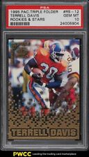 1995 Pacific Triple Folders Rookies & Stars Terrell Davis ROOKIE RC PSA 10 GEM