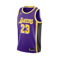 2020 LA Lakers Lebron James Nike Statement Purple Wish Jersey Size ...