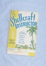 "1945 Vtg Booklet: ""The Shellcraft Instructor"" Make Jewelry Summer Crafts"