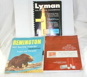 (3) 1960's Firearms Manuals: Lyman Remington Pacific / Reload Guns Ammo
