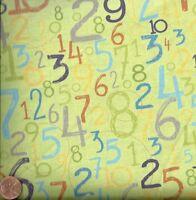 Baby Saurus green numbers Blend childrens fabric